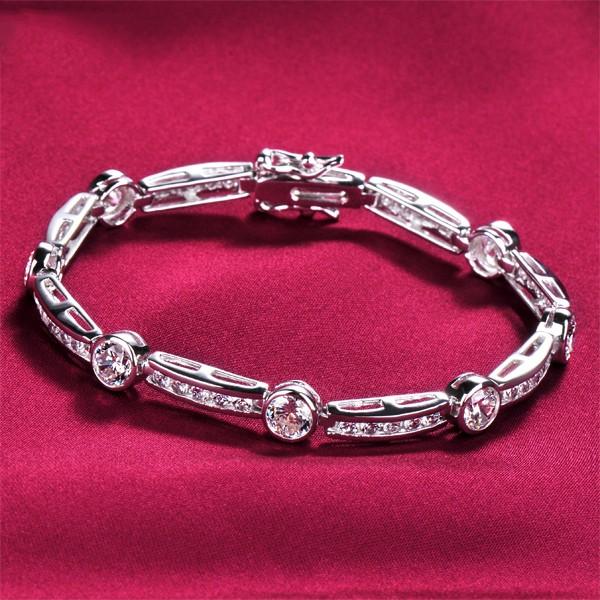 Impressive Seven 0.6 Carat Diamonds ESCVD Diamonds Women Bracelets