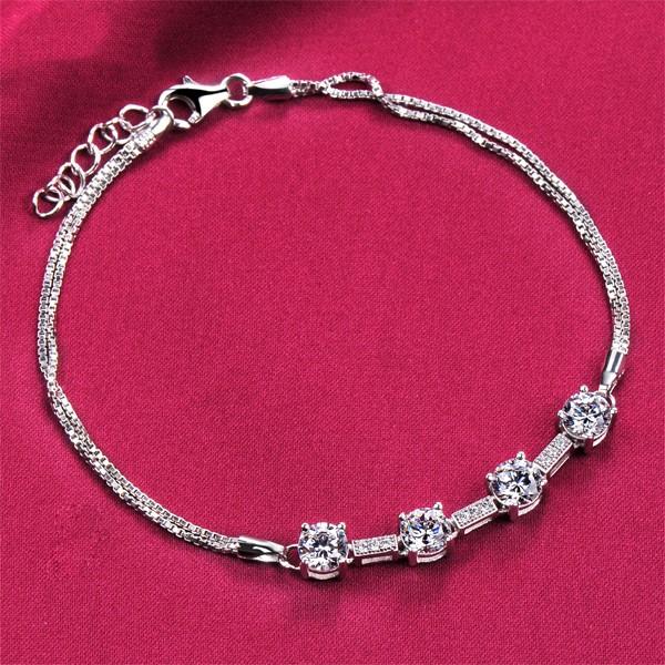 Four Delicate Diamonds ESCVD Diamonds Women Bracelets