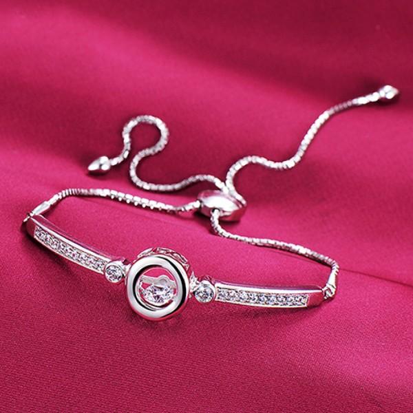 Unique Round Shape ESCVD Diamonds Women Bracelets