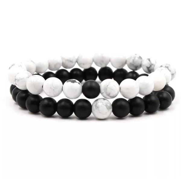 Black & White Distance Bracelets