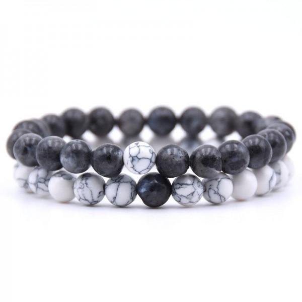 Distance Bracelets - Black Marble