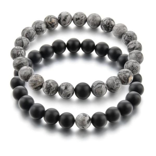 Grey Distance Bracelets