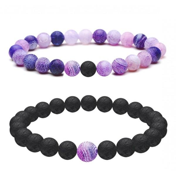 Purple Distance Bracelets