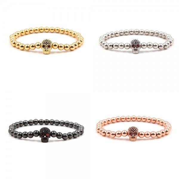 Gold/Silver/Black/Rose Gold plated Skull Bracelet