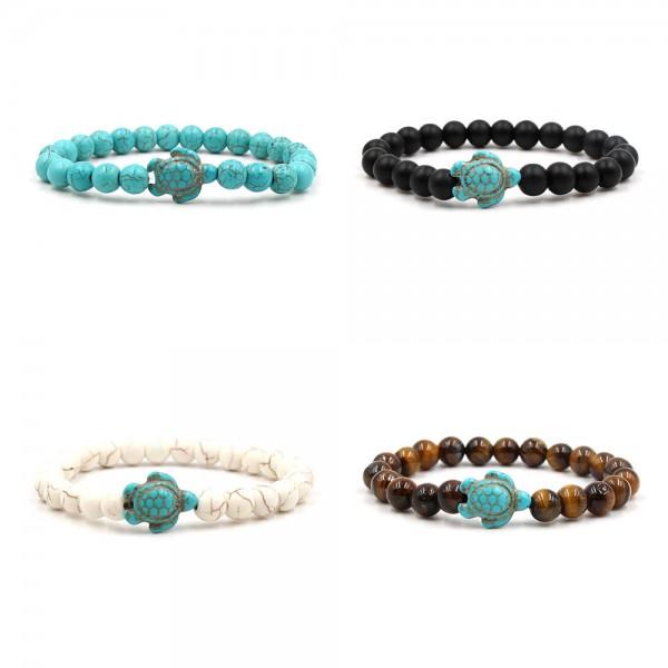 Natural Stone Beads Tortoise Bracelet