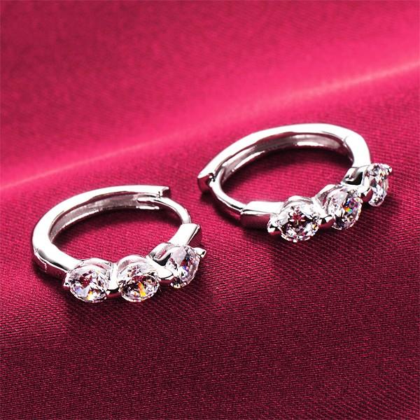 Delicate Shinning 0.5 Carat ESCVD Diamonds Women Earrings