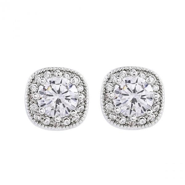 Simple Ladies S925 Sterling Silver Anti-Allergy Earrings