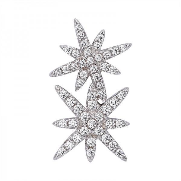 Stylish Females Double Flow Star Stud Earrings