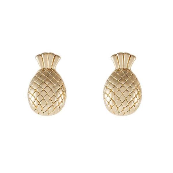 Sweetheart Pineapple S925 Sterling Silver Earrings