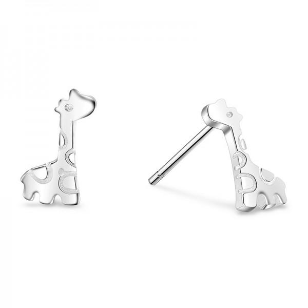 Fashion Cute Giraffe S925 Sterling Silver Earrings