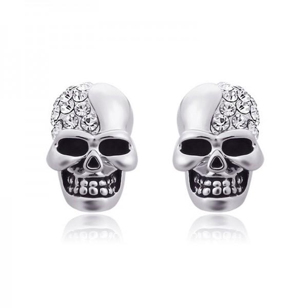 Antique Skull Alloy Halloween Stud Earrings