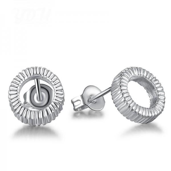 Hot S925 Sterling Silver Round Shape Eardrop