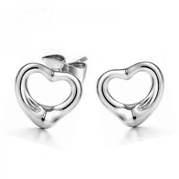 Fashion Heart S925 Sterling Silver Earrings