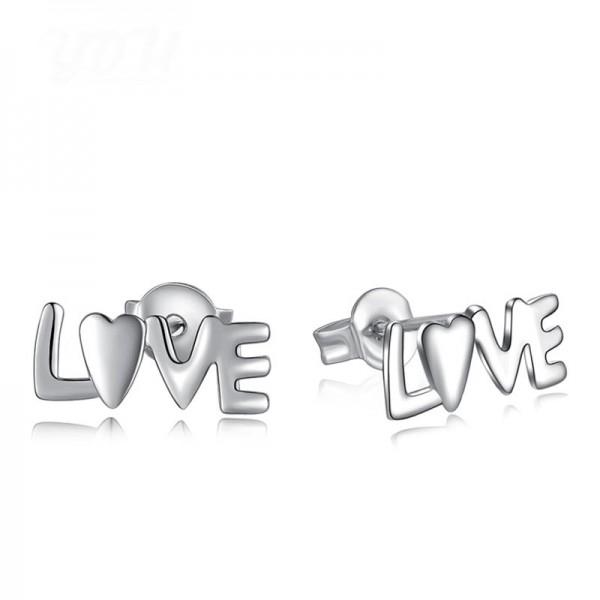 Fashion European Hollowed Love Personality Earrings