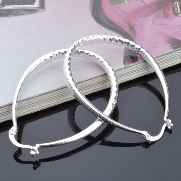 New S925 Sterling Silver Snake Belly Earrings