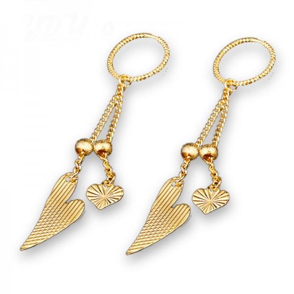 Golden Fashionable S925 Sterling Silver Tassels Eardrop