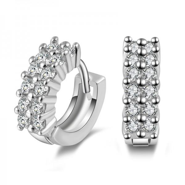 Fashion S925 Sterling Silver Shining Cubic Zirconia Earrings