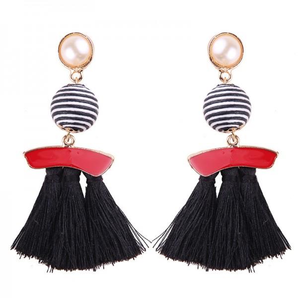 2018 Fashion New Alloy Womens Long Tassel Earrings