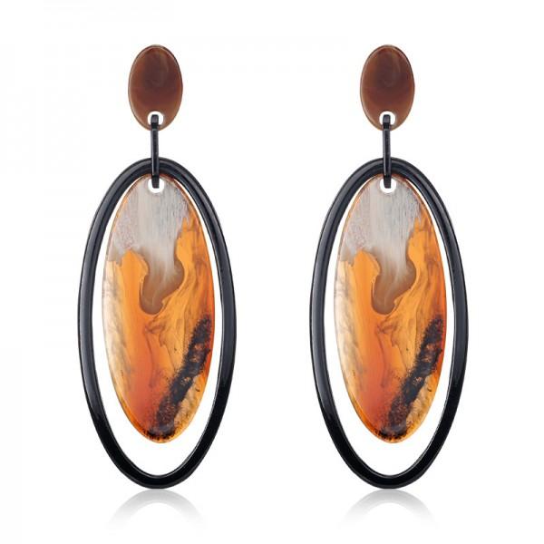 Ladies New Personalized Texture Acrylic Pendant Earrings