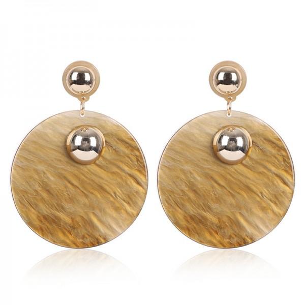 New Creative Acrylic Fashion Roun Earrings Jewelry