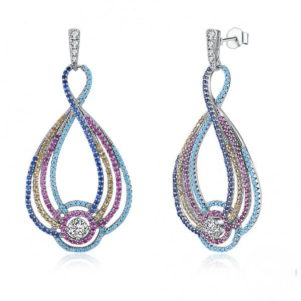 European Fashion Muliti-Colors S925 Sterling Silver Earrings