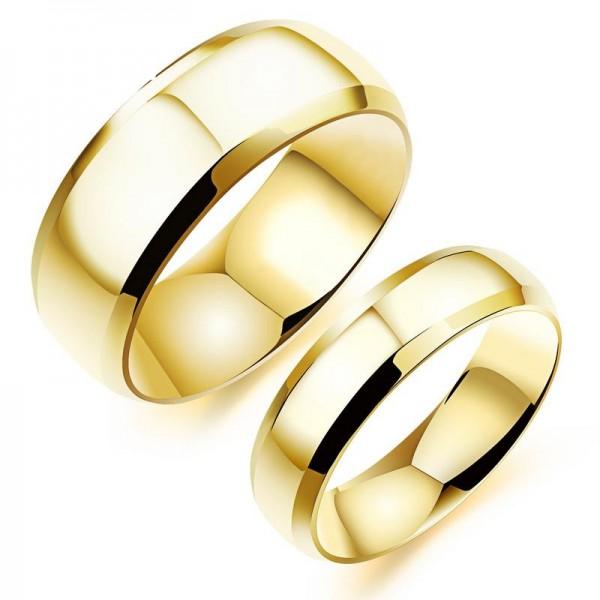 Titanium Ring Minimalist Personality Smooth Electroplating Rings