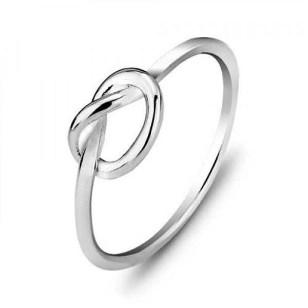 Fashion S925 Sterling Silver Genuine Love Female Ring