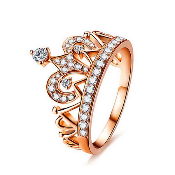 Hollow Crown Diamond Ring