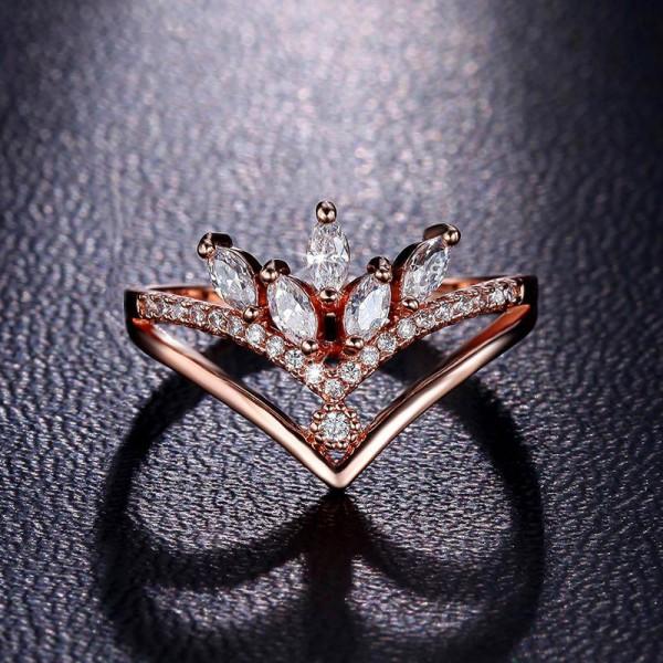 V-Shaped Diamond Ring Simple Fashion Tail Ring
