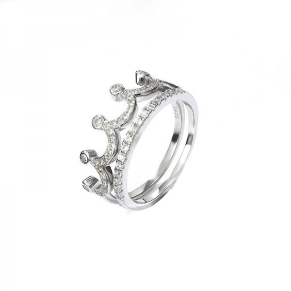 Crown Ring Tail Ring Female Litt Single Index Finger 925 Silver