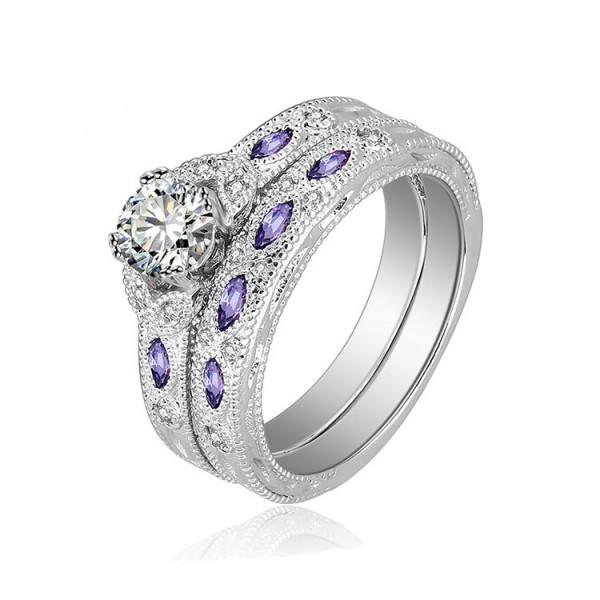 Hot New S925 Sterling Silver Platinum Plating Wedding Sets