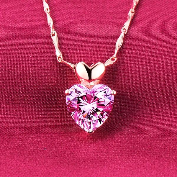 1.2 Carat Heart Shape ESCVD Diamonds Fashionable Women Necklaces Gift Necklaces