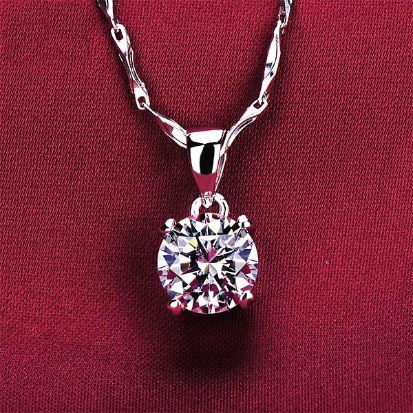 1.2 Carat Four Claw ESCVD Diamonds Fashionable Women Necklaces Gift Necklaces