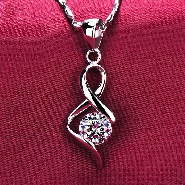 Special Curve Design 0.6 Carat ESCVD Diamonds Fashionable Women Necklaces Gift Necklaces