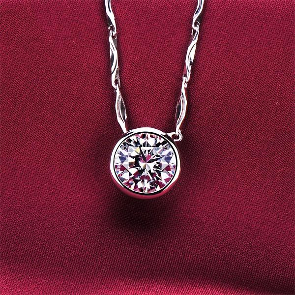 1.0 Carat Round Shape ESCVD Diamonds Fashionable Women Necklaces Gift Necklaces