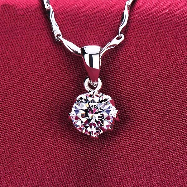 0.5 Carat Original Design ESCVD Diamonds Fashionable Women Necklaces Gift Necklaces