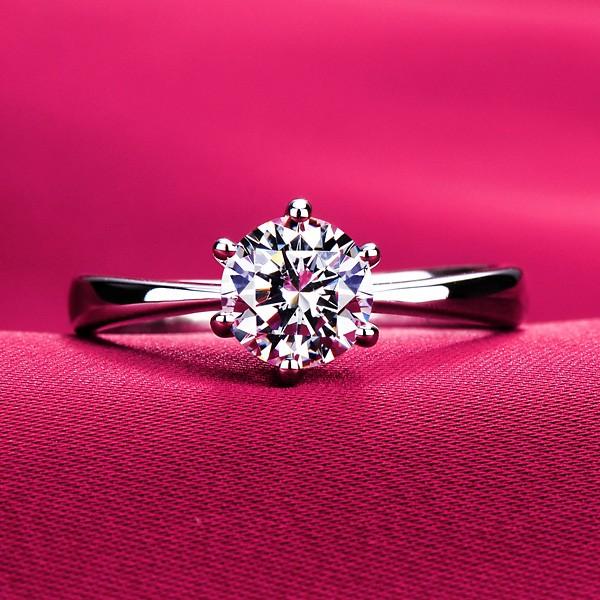 Precious Moissanite  ESCVD Diamonds Lovers Ring Wedding Ring For Her