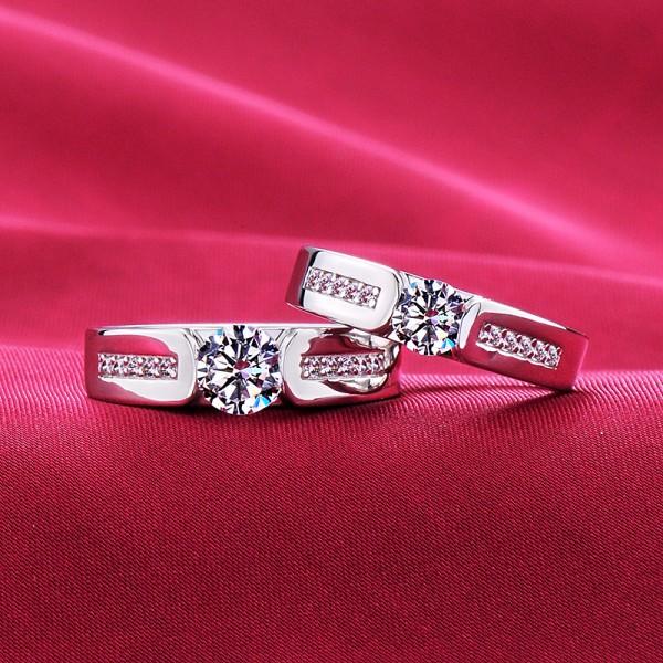 High-Class ESCVD Diamonds Lovers Rings Wedding Rings Couple Rings