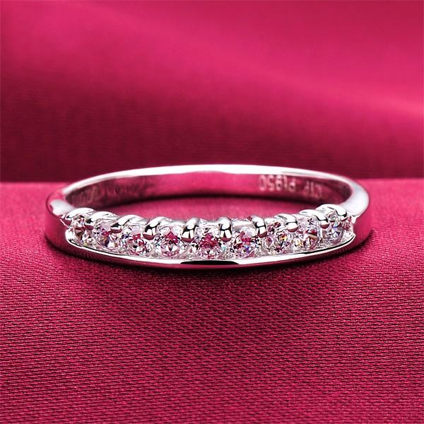 Premier ESCVD Diamonds Pt 950 Wedding Ring Women Ring Tail Ring