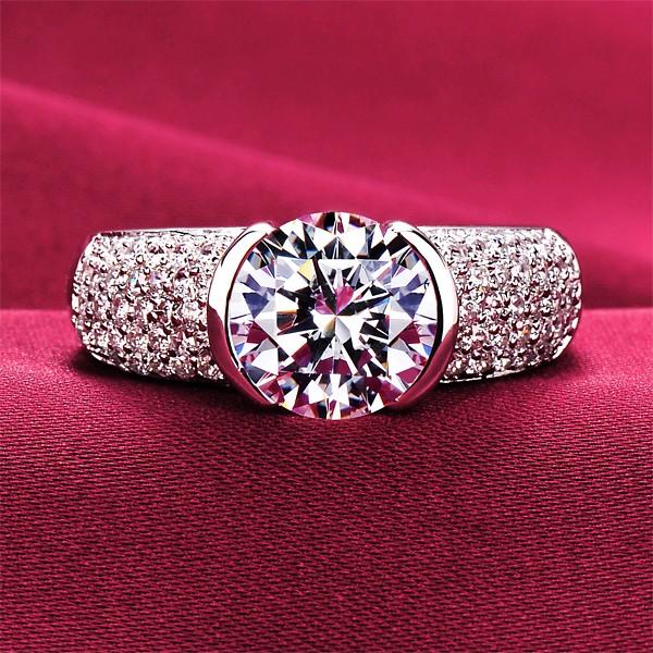Glamorous 2.0 Carat ESCVD Diamonds Lovers Ring Wedding Ring For Her