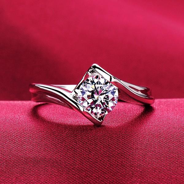 0.6 Carat ESCVD Diamonds Lovers Ring Wedding Ring For Her