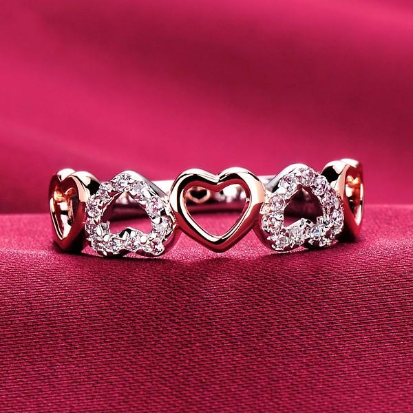 30 Delicate Diamonds Heart Shape ESCVD Diamonds Lovers Ring Wedding Ring For Her