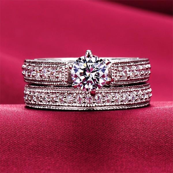 Honourable 0.6 Carat ESCVD Diamonds Lovers Ring Wedding Ring Women Ring