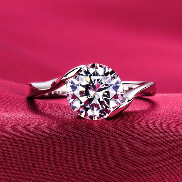 2.0 Carat Hand In Hand ESCVD Diamonds Lovers Ring Wedding Ring Women Ring