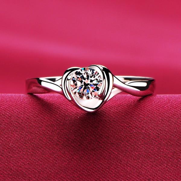 0.2 Carat Heart Shape ESCVD Diamonds Lovers Ring Wedding Ring Women Ring