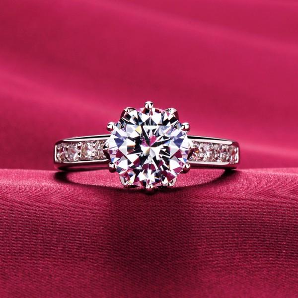 2.0 Carat Six Claw ESCVD Diamonds Lovers Ring Wedding Ring Women Ring