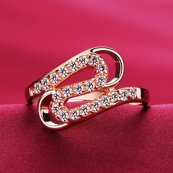 0.03 Carat Rose Gold Color ESCVD Diamonds Lovers Ring Wedding Ring Women Ring