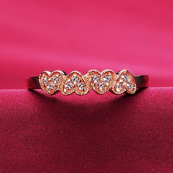 0.01 Carat Heart Shape Inlaid With Diamonds ESCVD Diamonds Lovers Ring Wedding Ring Women Ring