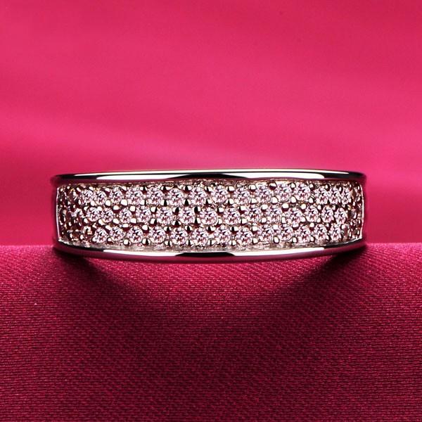 0.01 Carat Simple Design ESCVD Diamonds Lovers Ring Wedding Ring Women Ring