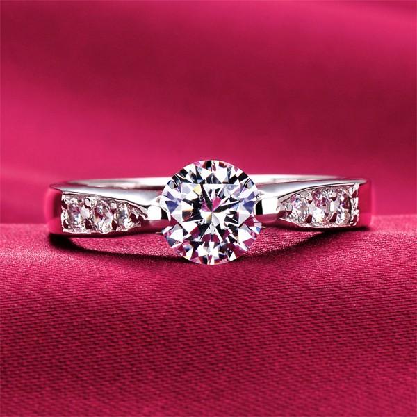 0.6 Carat Fine Cutting ESCVD Diamonds Lovers Ring Wedding Ring Women Ring